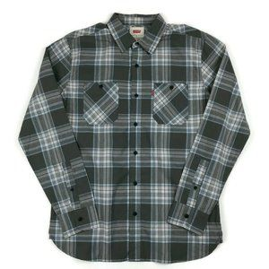 Levi's Gray Long Sleeve Button Down Shirt Small